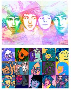Beatle Watercolors, Mixed Media And Paintings